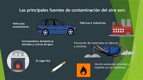 Contaminación agua aire