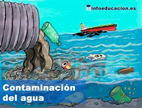 Contaminación del agua explicada para niños de primaria.