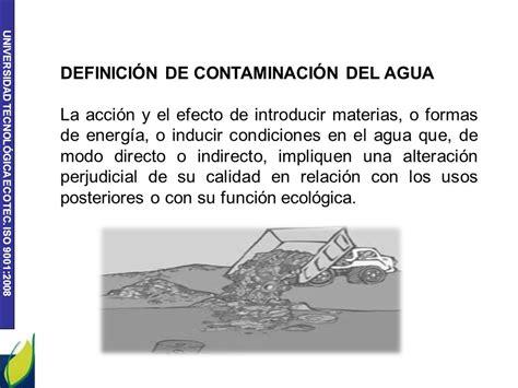 CONTAMINACIÓN DEL AGUA SOLUCION A LA CONTAMINACION DEL ...