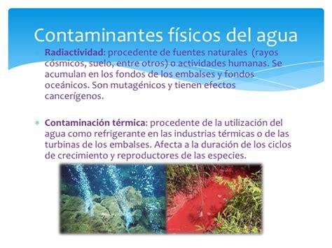 Contaminantes del agua
