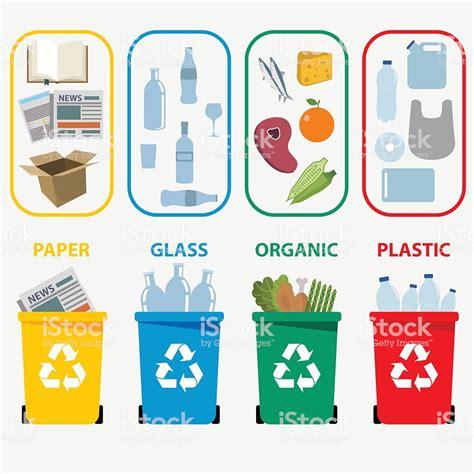 Contenedores De Reciclaje De Los Residuos De Colores ...