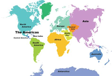 Continent Wall Maps from DaVinciBG.com   The leading ...
