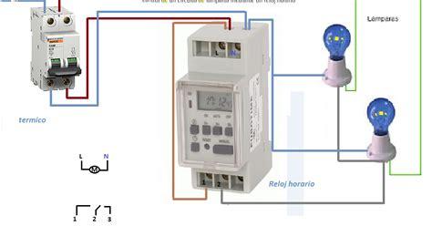 control de circuito de lamparas mediante reloj horario ...