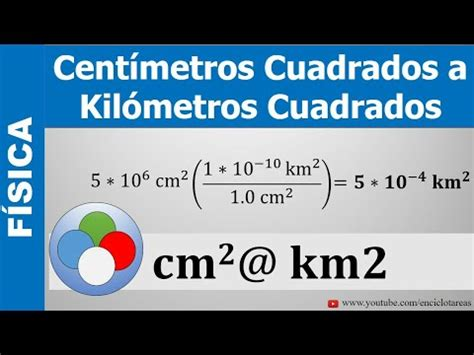 CONVERSIÓN DE CENTÍMETROS CUADRADOS A KILÓMETROS CUADRADOS ...
