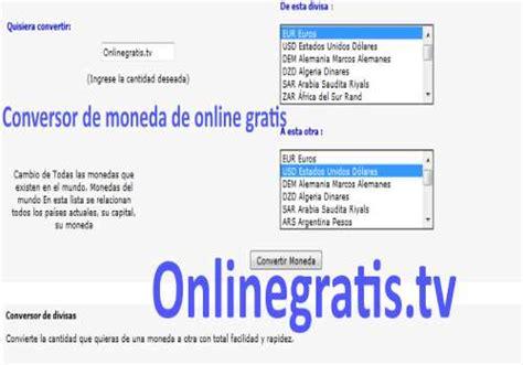 Conversor de moneda de online gratis Convertidor de ...