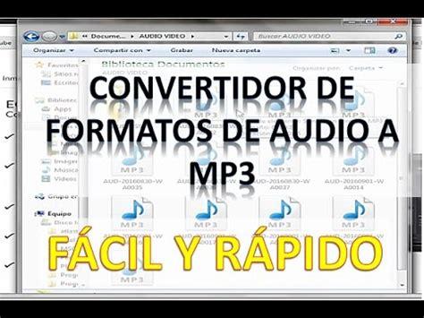 Convertidor de Formato Audio a Mp3 Online ¡FÁCIL Y RÁPIDO ...