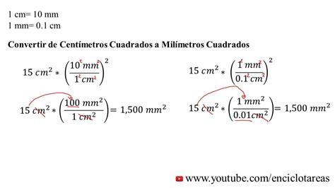 Convertir centimetros cuadrados a milimetros cuadrados ...
