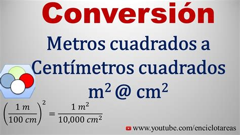 Convertir de Metros Cuadrados a Centimetros Cuadrados (m2 ...