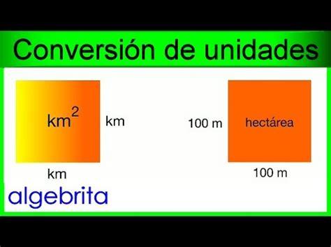 Convertir kilómetros cuadrados a hectáreas, km2 a ha ...