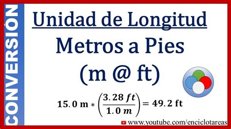 Convertir Metros a Pies (m a ft) - YouTube