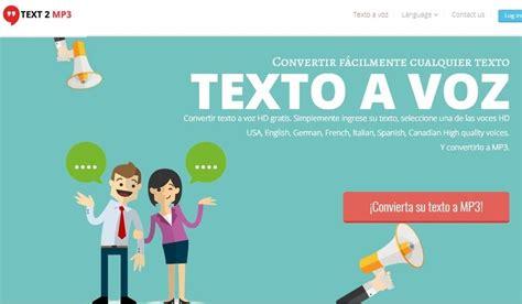 Convertir texto a Mp3 online y gratis con esta aplicación web