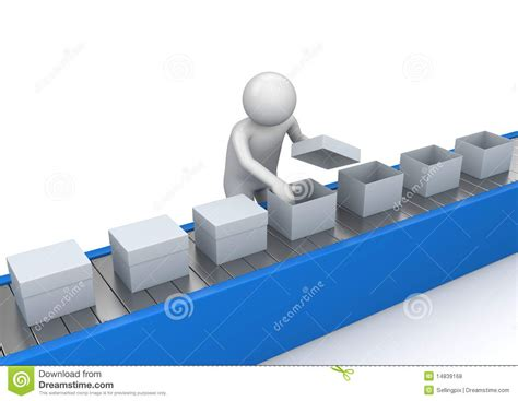 Conveyor Quality Control - Workers Stock Illustration ...
