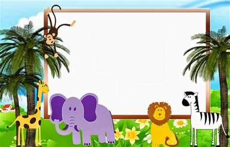 Convites Animais na Floresta (Safari) para Imprimir - Toda ...