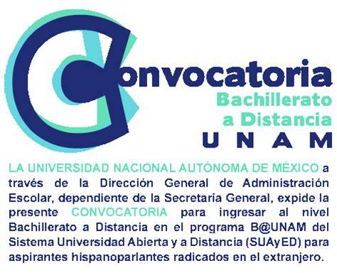 Convocatoria Bachillerato a Distancia 2015   UNAM