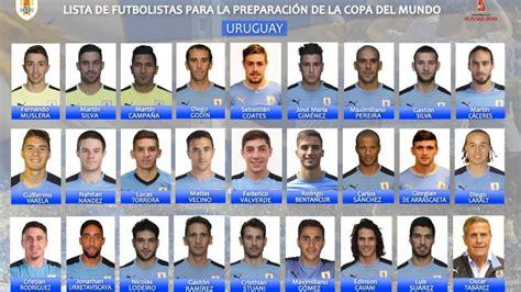 Convocatoria Uruguay Mundial 2018: La lista de Uruguay ...