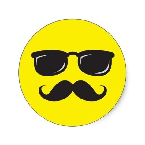 Cool Smiley Faces With Mustaches | Examples and Forms