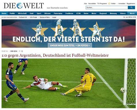 Copa del Mundo 2014: Deutschland über alles!   DIE WELT ...
