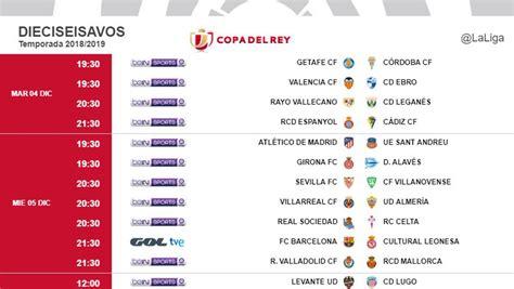 Copa del Rey: Horario y dónde ver en TV los partidos de ...