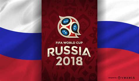 Copa Mundial Rusia 2018 con bandera   Descargar vector