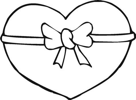 corazon con moño del 14 de febrero para imprimir y ...