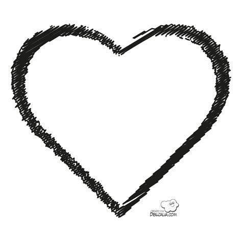 Corazón garabateado | Dibujos para colorear | Pinterest