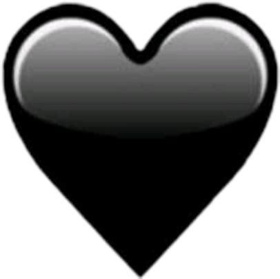 corazón negro emoji - Sticker by Karla S.