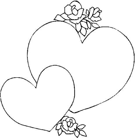 corazones con flores hermosos para imprimir y colorear ...