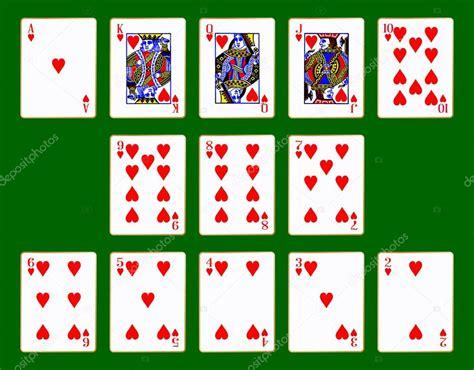 Corazones juego de cartas — Vector de stock © BigAlBaloo ...