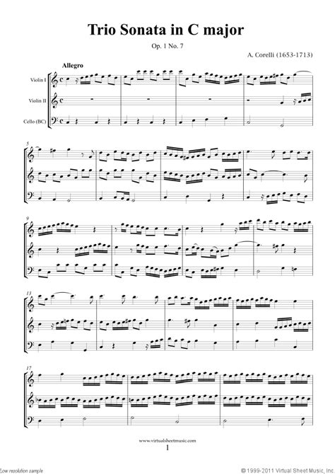 Corelli - Trio Sonata in C major Op.1 No.7 sheet music for ...