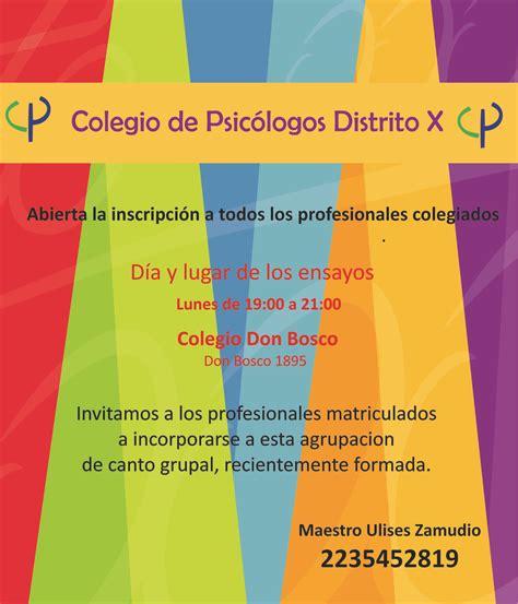 Coro del Colegio de Psicólogos ~ Colegio de Psicólogos