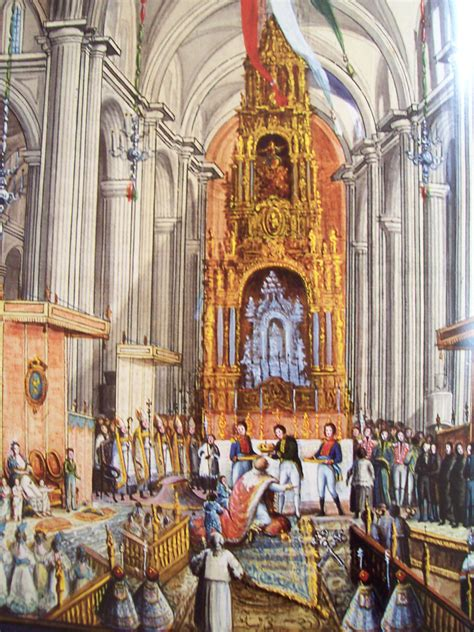 Coronation of General Augustin Iturbide to become Emperor ...