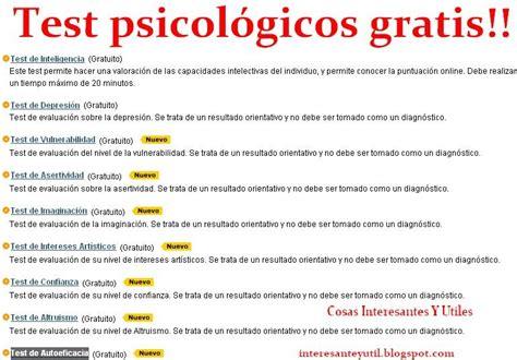 Cosas Interesantes!: Test's Psicológicos, ICQ, pruebas ...