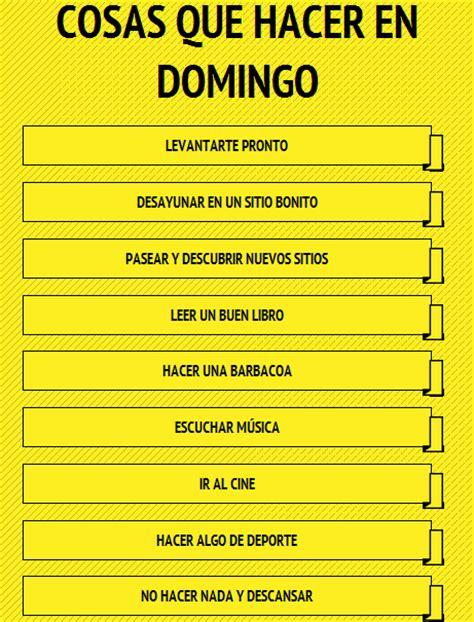 Cosas que hacer en domingo | La página del español