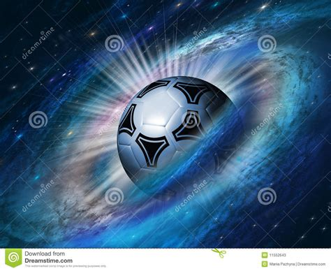 Cosmos Background With A Soccer Ball Stock Photos   Image ...