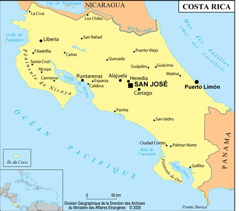 Costa Rica-Informations, carte, hôtel au costa rica ...