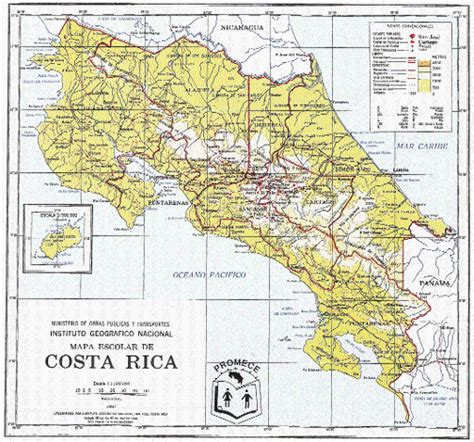 Costa Rica Mapa Físico
