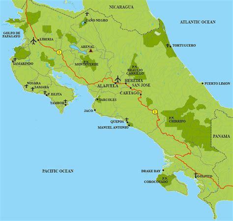Costa Rica | Mapas da Costa Rica   Geografia Total™