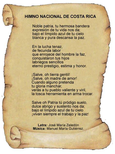 Costa Rica National Anthem - history, lyrics and music.