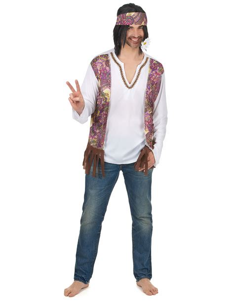 Costume da Hippie con fascia per uomo: Costumi adulti,e ...