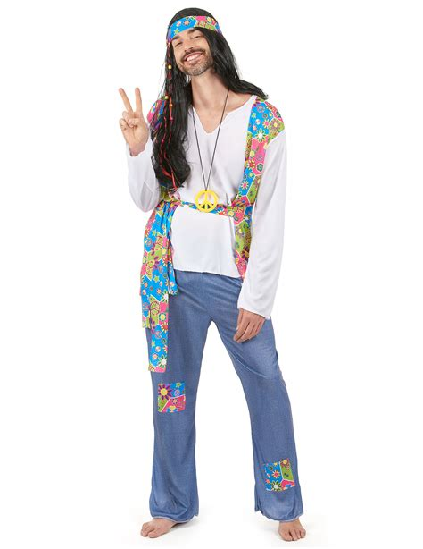Costume hippie uomo: Costumi adulti,e vestiti di carnevale ...