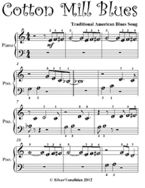 Cotton Mill Blues Beginner Piano Sheet Music Pdf by ...