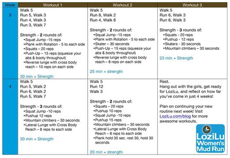 Couch to 5k in 4 weeks | Stay in Shape! | Pinterest