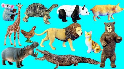 Country Farm Animals and Wild Zoo Safari Toy Animals ...