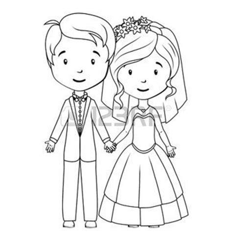 couple de mariés dessin: Livre à colorier: marié de bande ...