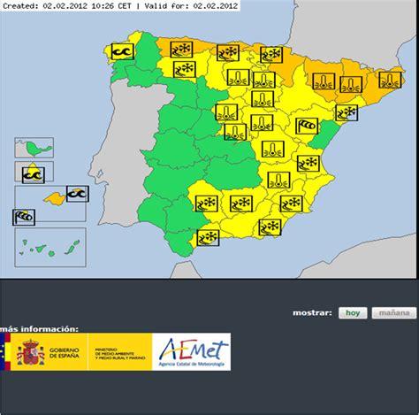 CREA espais: Avisos meteorológicos: España