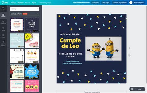 Crea invitaciones de Minions online gratis - Canva