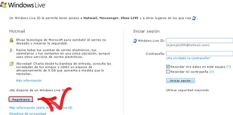 Crear cuenta Hotmail | 10Puntos.com