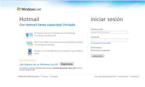 Crear cuenta Hotmail