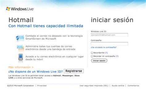 Crear una cuenta de correo en Hotmail