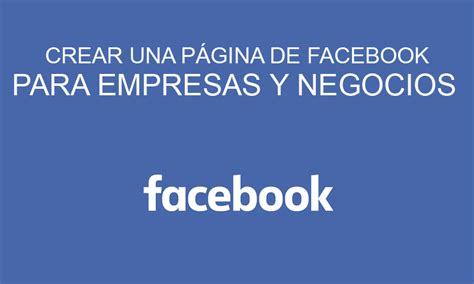 Crear una página de Facebook para empresa | Creatideas